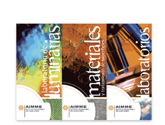 Brochures for departments of AIMME