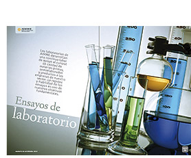 Double page for Laboratories